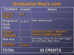 graduation req s cont