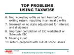 top problems using taxwise1