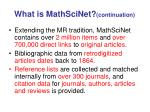 what is mathscinet continuation1