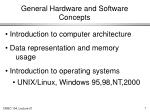 general hardware and software concepts