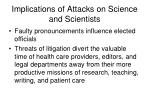 implications of attacks on science and scientists2