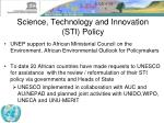 science technology and innovation sti policy