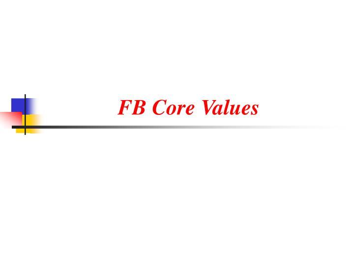 Fb core values