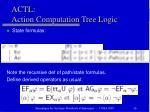 actl action computation tree logic2