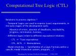 computational tree logic ctl