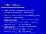 order patterns