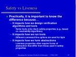 safety vs liveness