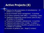 active projects 8