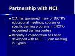 partnership with nci
