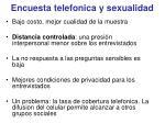 encuesta telefonica y sexualidad