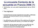 la encuesta contexto de la sexualida en francia 2006 1