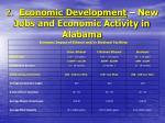 2 economic development new jobs and economic activity in alabama