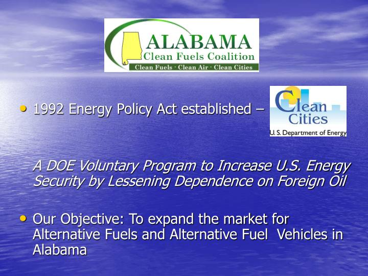 1992 Energy Policy Act