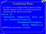 conditional plans