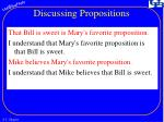 discussing propositions