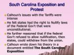 south carolina exposition and protest