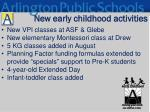 new early childhood activities