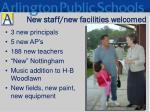 new staff new facilities welcomed