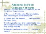 additional exercise collocation of words