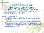 additional exercises sentence combination