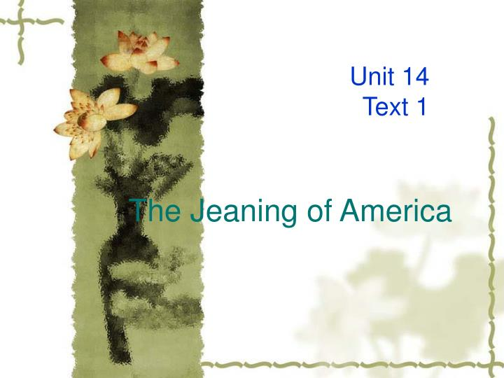 the jeaning of america n.