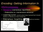encoding getting information in