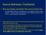 source amnesia confusion