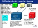 ractrac functionality www aharactrac org
