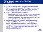 what does it mean to be ractrac compatible