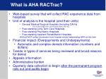 what is aha ractrac