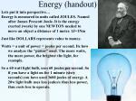 energy handout