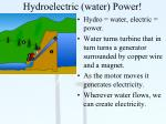 hydroelectric water power