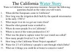 the california water story