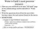 water is earth s most precious resource