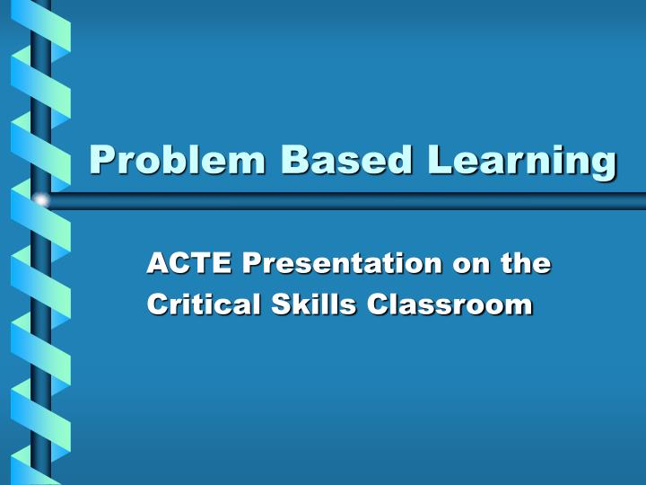 problem based learning n.
