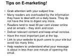 tips on e marketing