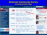 american community survey accessing home page