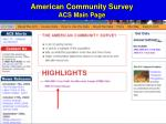 american community survey acs main page