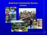 american community survey content