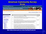 american community survey errata