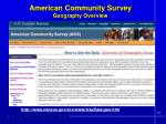 american community survey geography overview