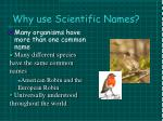 why use scientific names1