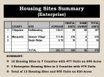 housing sites summary enterprise