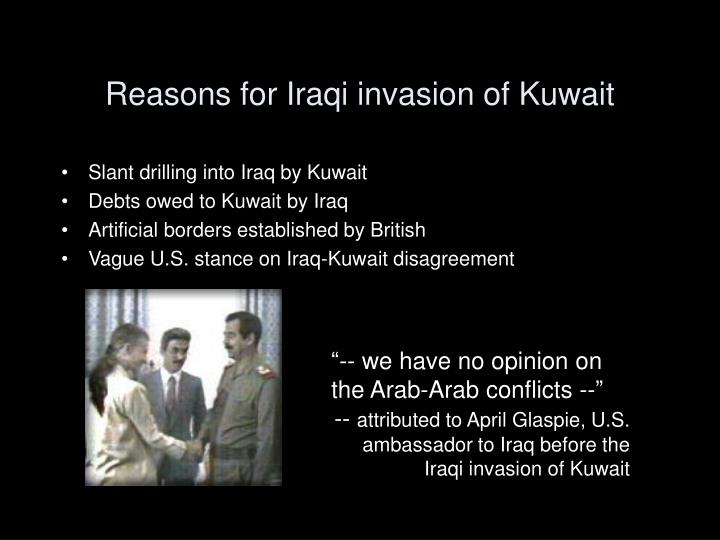 Reasons for iraqi invasion of kuwait