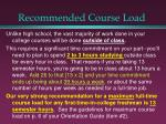 recommended course load