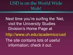 usd is on the world wide web