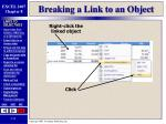 breaking a link to an object