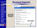 document inspector