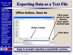 exporting data as a text file