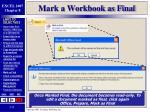 mark a workbook as final